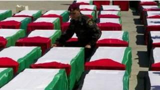 فسلطینیوں کے تابوت