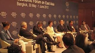 Các diễn giả trong diễn đàn về an ninh tại WEF