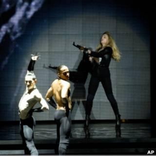 Apresentação de Madonna em Israel. AP