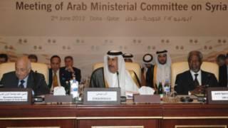لقطة من اجتماع مجلس وزراء الخارجية العرب في الدوحة