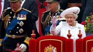 Rainha Elizabeth e o duque de Edimburgo. Getty