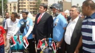 مجموعة من الدراجين المشاركين في الفعالية