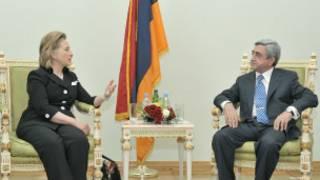 هیلاری کلینتون و رئیس جهمور ارمنستان