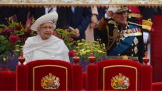 الملكة اليزابيث خلال الاحتفال باليوبيل الماسي