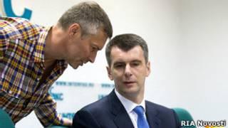 Михаил Прохоров, Евгений Ройзман