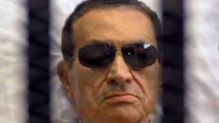 مبارك خلال المحاكمة