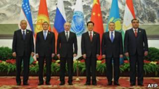 上海合作组织成员国领导人(06/06/2012)