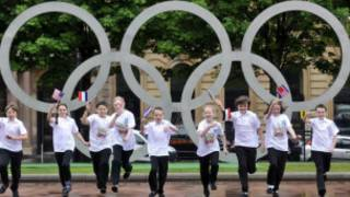 格拉斯哥乔治广场的奥运五环