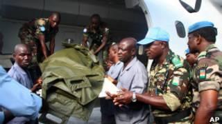 جثمان جندي من قوات حفظ السلام
