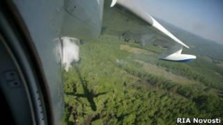 Тушение пожаров в Туве
