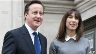 Vợ chồng Thủ tướng Anh - David Cameron và Samantha.
