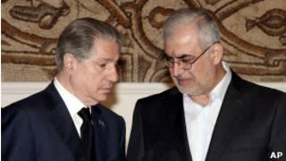 أمين الجميل(يسار) ومحمد رعد