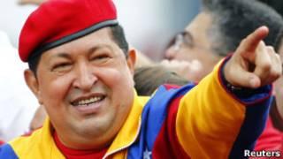 O presidente da Venezuela, Hugo Chávez, ao oficializar sua candidatura à reeleição