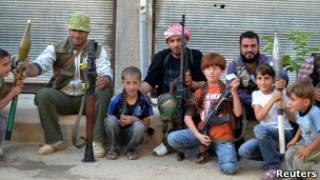 اطفال سوريون