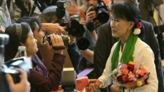 Bà Suu Kyi đến hội nghị Tổ chức Lao động Quốc tế ở Geneva, Thụy Sỹ