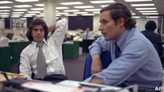 Carl Bernstein (izq.) y Bob Woodward