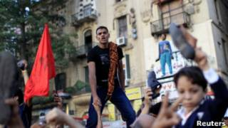 Protesto no Cairo (Foto: Reuters)