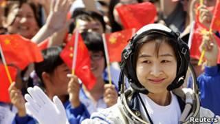 Первая женщина-космонавт Китая Лю Ян