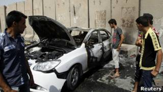 عکس آرشیوی از یک بمبگذاری در عراق