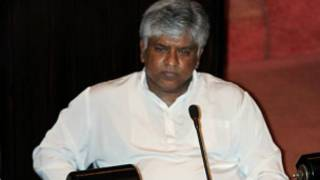 Arjuna Ranatunga, MP,  in Sri Lanka parliament