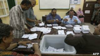 فرز أصوات في القاهرة
