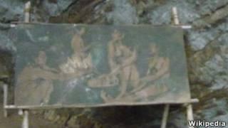 Illustration of Balangoda man in Pahiyanagala