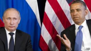 أوباما (يمين) مع بوتين