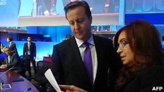 David Cameron y Cristina Fernández