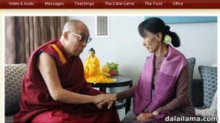El Dalai Lama con Aung San Suu Kyi