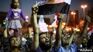 Акция протеста на площади Тахрир в Каире