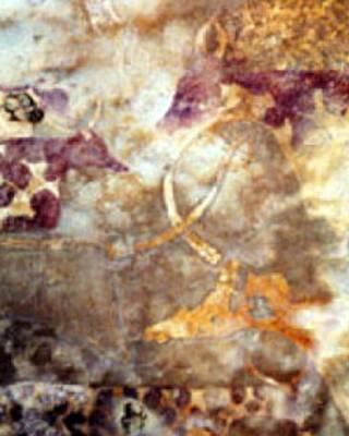 Un fresco pintado en una roca en Libia hace 7.000 años muestra imágenes de ganado