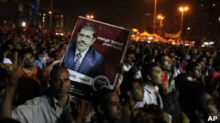 محتجون جرحى في مصر