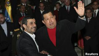Hugo Chavez y Ahmadineyad