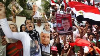 Сторонники Мусри и Шафика вышли на улицы