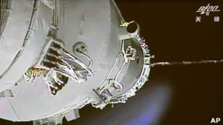 Китайский модуль в космосе