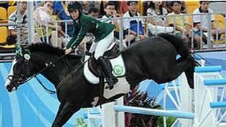 لاعبة الفروسية السعودية دلما ملحس والتي كان يتوقع مشاركتها في دورة لندن
