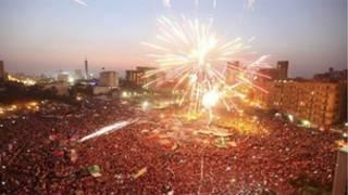 الاحتفالات بفوز مرسي