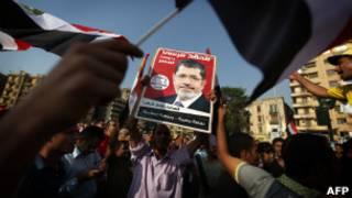 Aliados de Mohammed Mursi celebram vitória (Foto AFP)