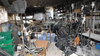 Stasiun TV propemerintah Suriah yang diserang