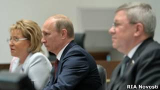 В.Путин на заседании Совета Федерации