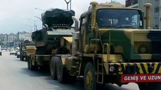ဆီးရီးယားနယ်စပ်ကို လက်နက်များ သယ်ဆောင်