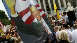 rotesto a favor da reforma da saúde, em Washington | Foto: Getty