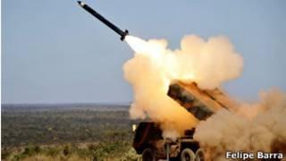 Sistema Astros de artilharia desenvolvido no Brasil (foto: Felipe Barra - Ministério da Defesa)