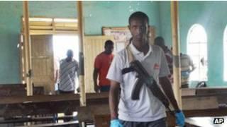 Сотрудник кенийской полиции