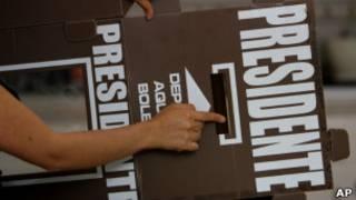 Urna que será montada para eleição no México (AP)
