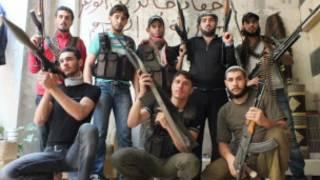 بعض مقاتلي الجيش السوري الحر
