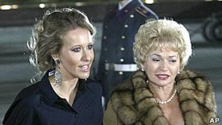 Людмила Нарусова с дочерью Ксенией Собчак