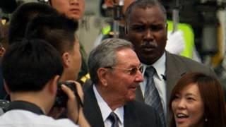 Chủ tịch Cuba Raul Castro ở Trung Quốc