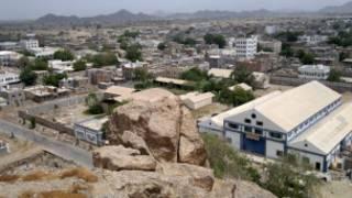 نمایی از شهر جار در یمن
