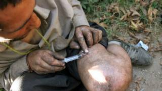 تزریق مواد مخدر